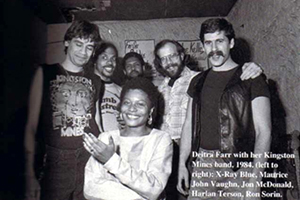 Deitra with her Kingston Mines Band