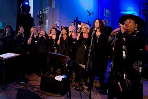 Singing with the choir in Hell, Norway